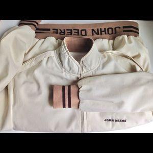 Vintage Mens JOHN DEERE Jacket Coat Size L/G Retro